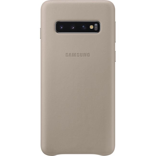 Θηκη για Samsung Galaxy S10 Leather Cover Grey Original EF-VG973LJE