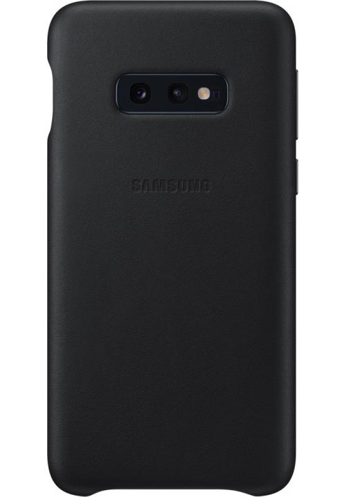 Θήκη για Samsung Galaxy S10e Leather Cover Black Original EF-VG970LBE
