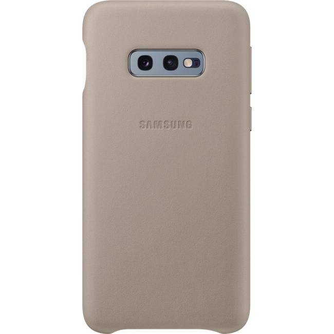 Θήκη για Samsung Galaxy S10e Leather Cover Grey Original EF-VG970LJE