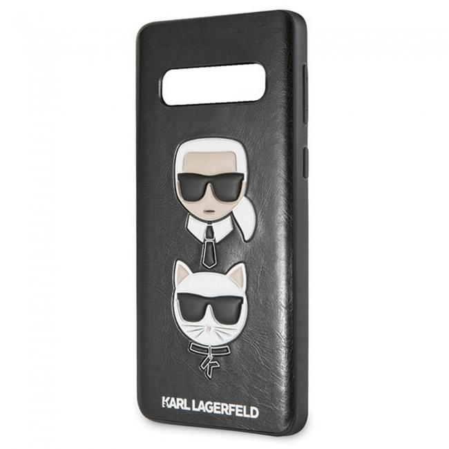 Θήκη για Samsung Galaxy S10e Faceplate Karl Lagerfeld Black KLHCS10LKICKCS