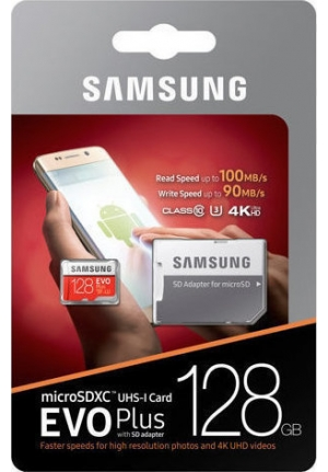 MICRO SDXC SAMSUNG U3 128GB EVO PLUS (WITH ADAPTOR) (MB-MC128GA/EU)