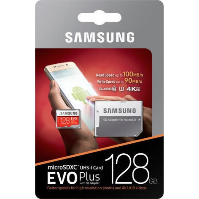 MICRO SDXC SAMSUNG U3 128GB EVO PLUS (WITH ADAPTOR) (MB-MC128GA/EU)