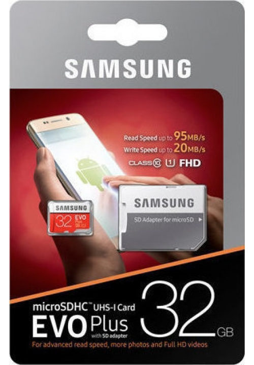 SAMSUNG MICRO SDHC U1 32GB EVO PLUS (WITH ADAPTOR) (MB-MC32GA/EU)