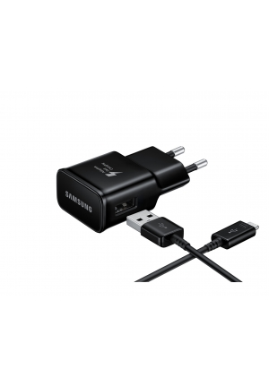Samsung USB Type-C Cable & Wall Adapter Black (EP-TA20EBECGWW)