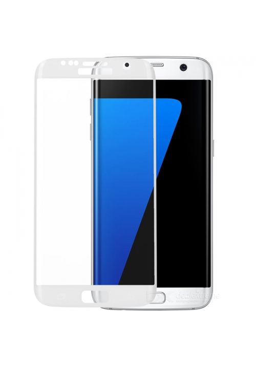 Tempered Glass 9h for Samsung Galaxy S7 Edge 5D Roar White (for Wallet Case)