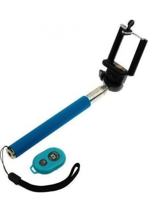 SELFIE STICK BLUN WITH TRIPOD AND BLUETOOTH REMOTE BLUE