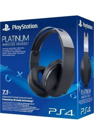 SONY PS4 WIRELESS HEADSET BLACK PLATINUM 7.1 CUFFIA (1171981275)