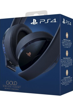 HEADSET SONY PS4 GOLD WIRELESS HEADSET 500 MILLION LIMITED EDITION BLUE (CUHYA-0080)