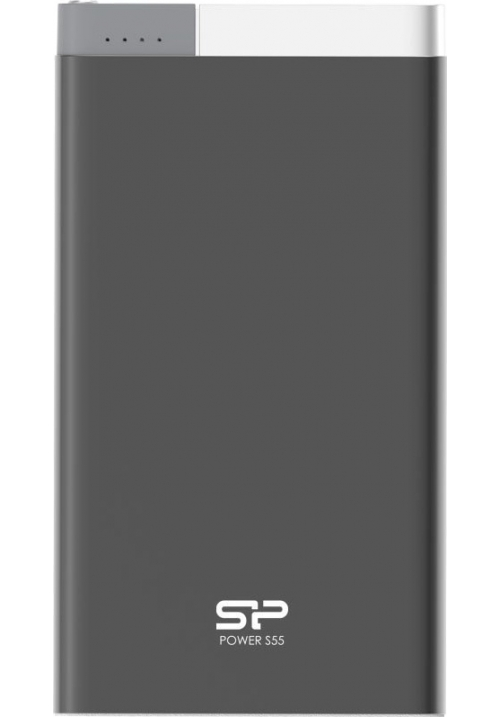 POWER BANK SILICON POWER S55 5000mAh SP5K0MAPBKS55P0K BLACK