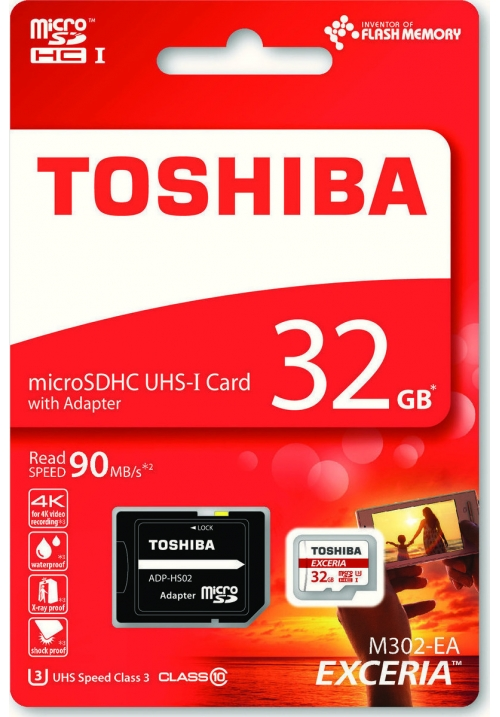 MICRO SDHC TOSHIBA M302 EXCERIA 32GB (WITH ADAPTOR) THN-M302R032