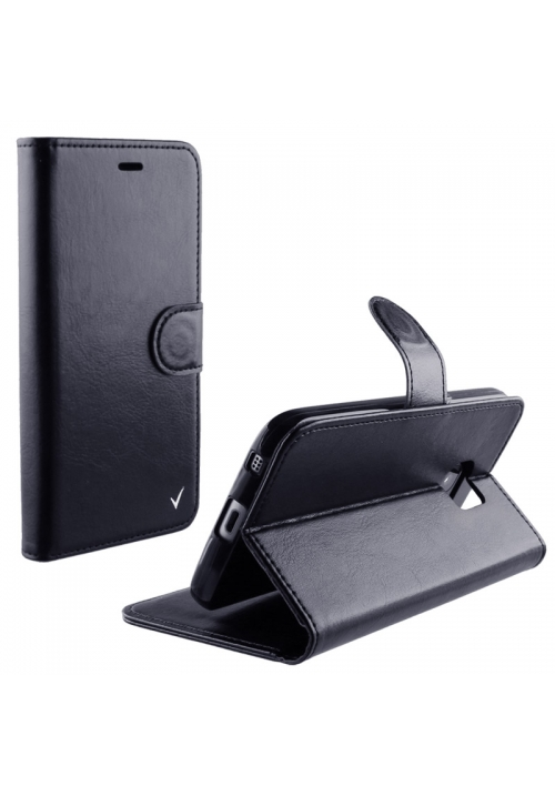 Θήκη για Apple Iphone 7 Plus Silk Leather Tpu Book Stand Black