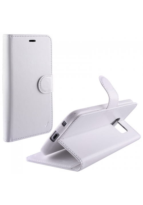 Θήκη για Apple Iphone 7 Plus Silk Leather Tpu Book Stand White