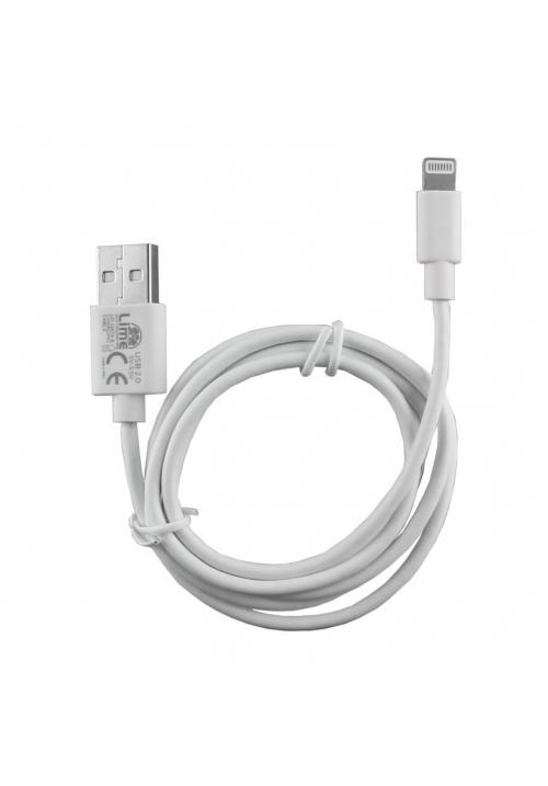 Καλώδιο Φόρτισης Lighting 2.4A 1m Lime L01 White (Volte-Tel)