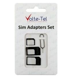 ADAPTOR SET 4-1 SIM TRAY TOOL VOLTE-TEL