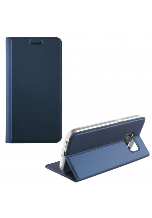 Θήκη για APPLE IPHONE 8 LEATHER-TPU BOOK STAND DARK BLUE (5205308177484)