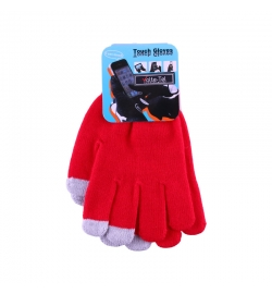 WINTER GLOVES TOUCH SCREEN RED VOLTE-TEL
