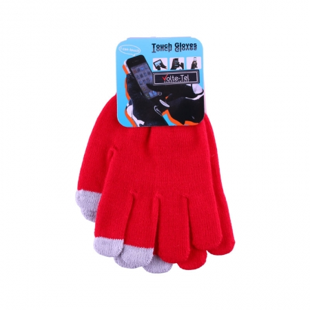 WINTER GLOVES TOUCH SCREEN RED ...