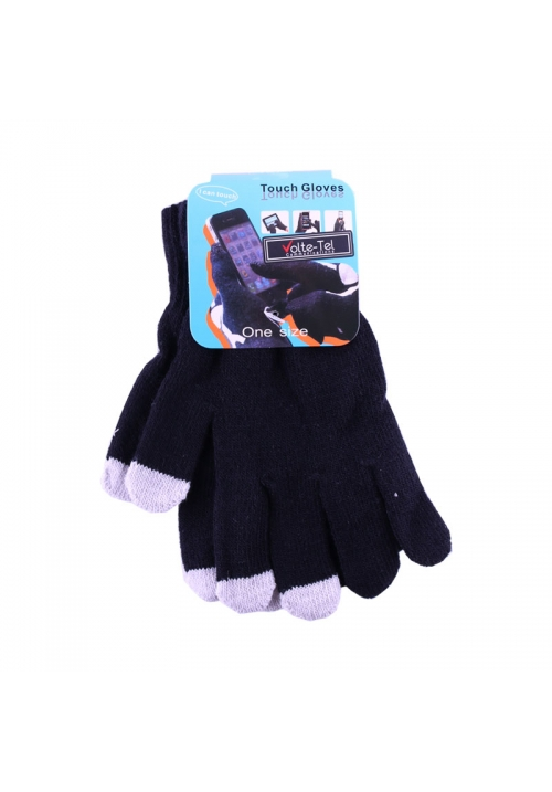 WINTER GLOVES TOUCH SCREEN BLACK VOLTE-TEL