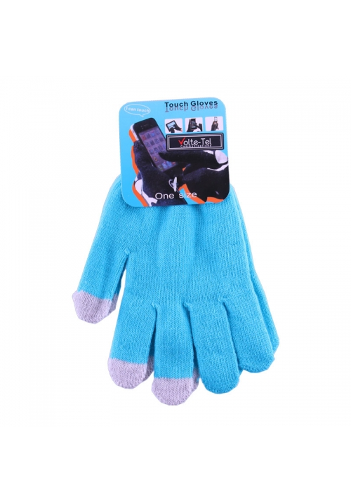 WINTER GLOVES TOUCH SCREEN LIGHT BLUE VOLTE-TEL