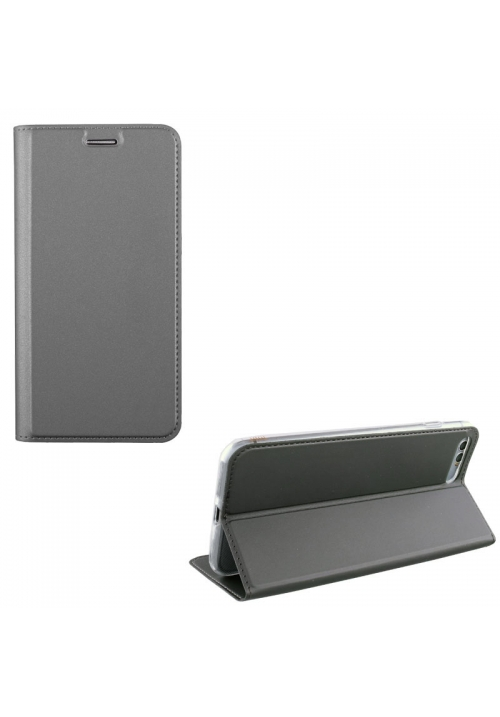 Θήκη για APPLE IPHONE 8 LEATHER-TPU BOOK STAND DARK GREY (5205308177132)