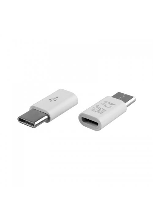 ΜΕΤΑΤΡΟΠΕΑΣ ΦΟΡΤΙΣΤΗ (MICRO USB TO TYPE C) WHITE NSP VOLTE-TEL (5205308190520)
