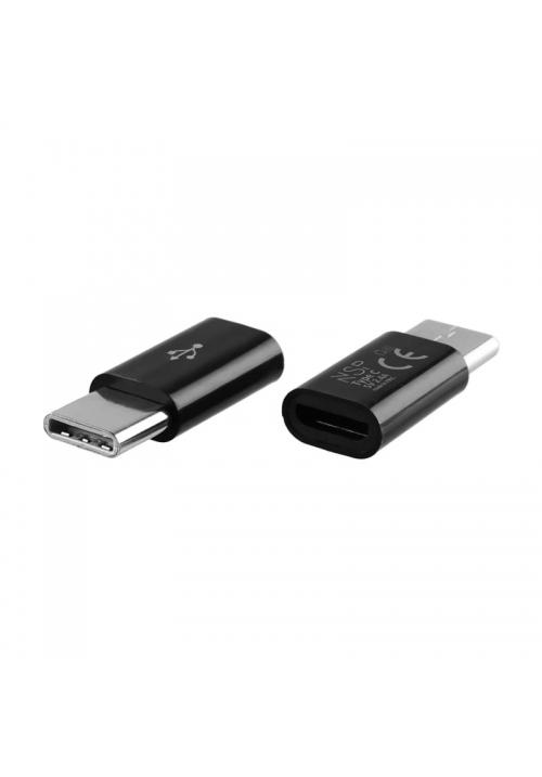ΜΕΤΑΤΡΟΠΕΑΣ ΦΟΡΤΙΣΤΗ (MICRO USB TO TYPE C) BLACK NSP VOLTE-TEL (5205308190537)