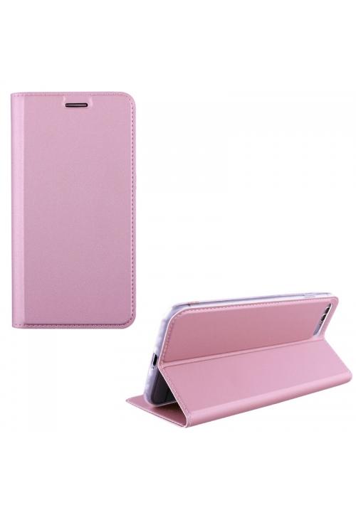 ΘΗΚΗ ΓΙΑ IPHONE 8 LEATHER-TPU BOOK STAND ROSE GOLD (5205308177477)