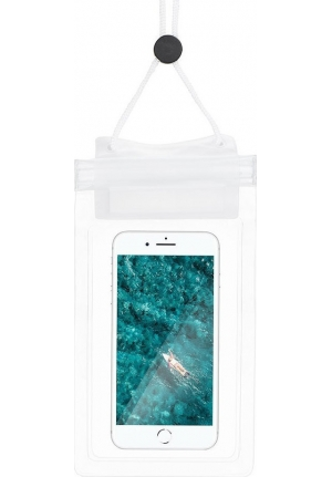 Θήκη για Smartphone Waterproof Bag with Zipper Closing White