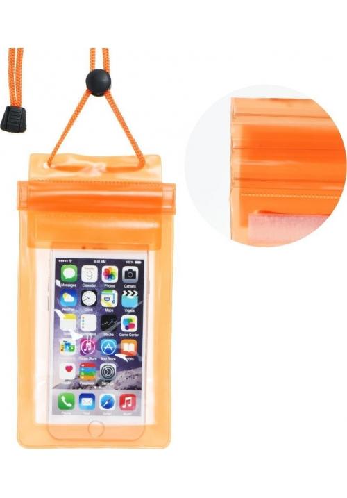 Θήκη για Smartphone Waterproof Bag with Zipper Closing Orange