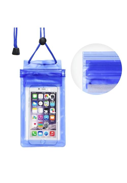 Θήκη για Smartphone Waterproof Bag with Zipper Closing Blue