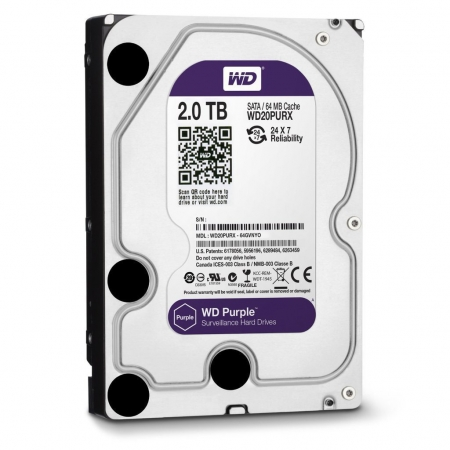 "HDD WD PURPLE 2TB 3.5"" SAT..."