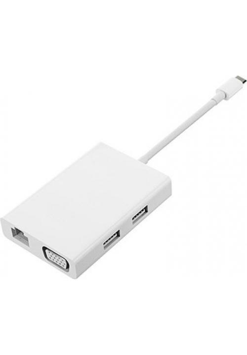 Adapter Xiaomi Mi USB-C to VGA and Gigabit Ethernet White