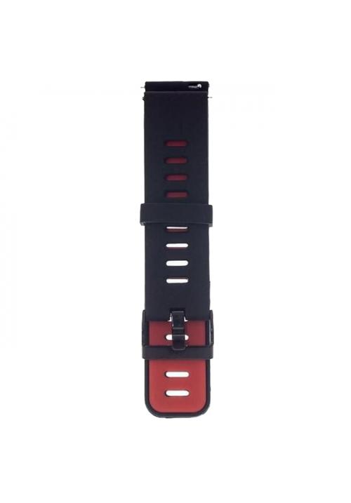 XIAOMI REPLACEMENT BRACELET FOR AMAZFIT PACE / AMAZFIT 2 STRATOS BLACK RED ACC181