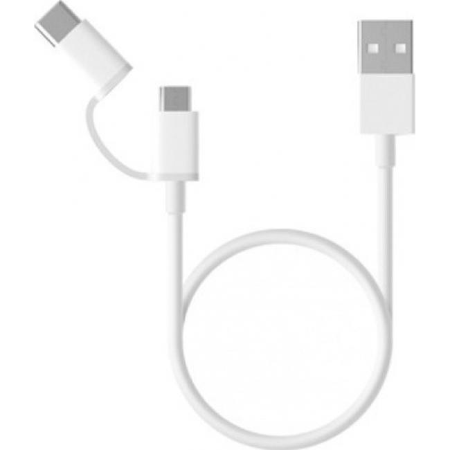 Xiaomi Regular USB to Type-C / micro USB Cable Λευκό 1m (SJV4082TY)