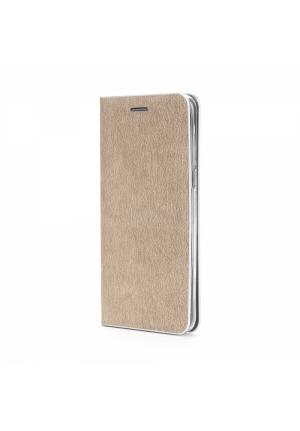 Θήκη για Xiaomi Redmi Note 8 Pro Senso Feel Book Gold SENFEXIARN8P