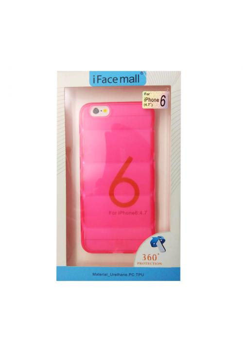 Θήκη για Apple Iphone 6/6S Tpu Facemail Rose