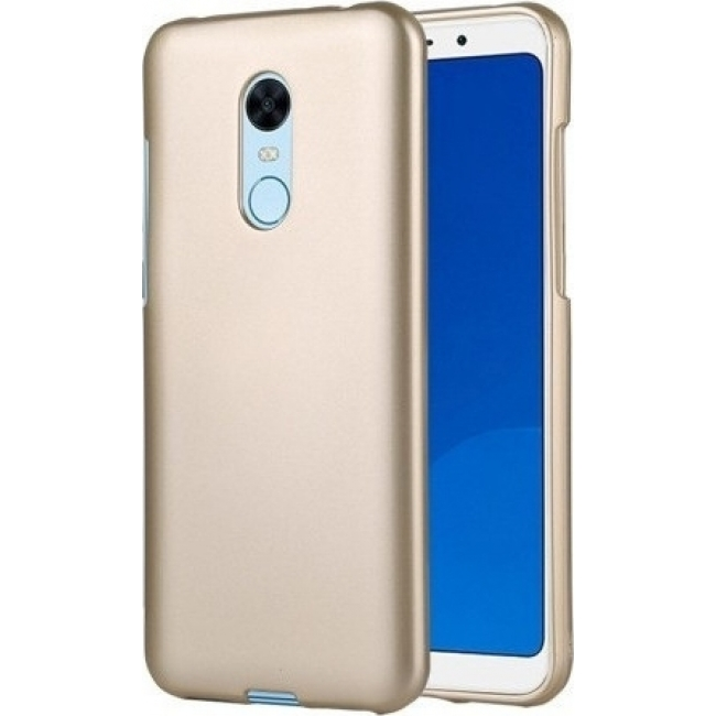Θήκη για Xiaomi Redmi 5 Plus Jelly Case Flash Mat Gold