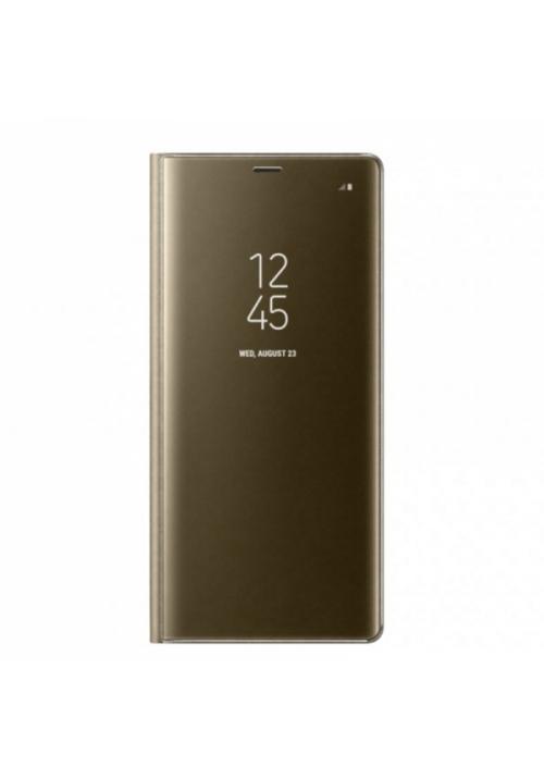 Θήκη για Xiaomi Redmi 7 Senso Clear Book Gold SECLBXIAR7G