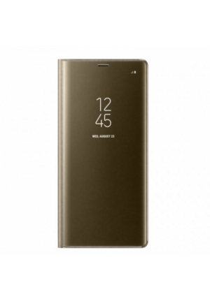 Θήκη για Xiaomi Redmi 8 Senso Clear Book Gold SECLBXIAR8G