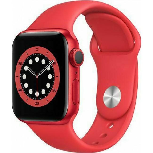 APPLE WATCH 6 44mm GPS RED/DEEP RED SPORT BAND M00M3 EU
