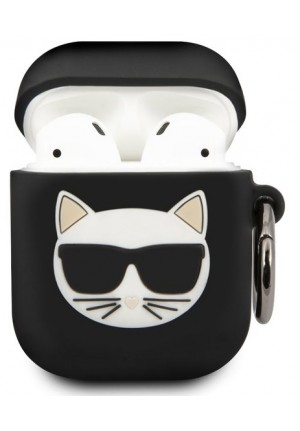 ΘΗΚΗ ΓΙΑ APPLE AIRPODS  KARL LAGERFELD BLACK KLACA2SILCHBK