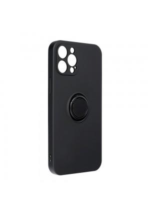 ΘΗΚΗ ΓΙΑ APPLE IPHONE 12 PRO MAX FORCELL SILICONE RING BLACK