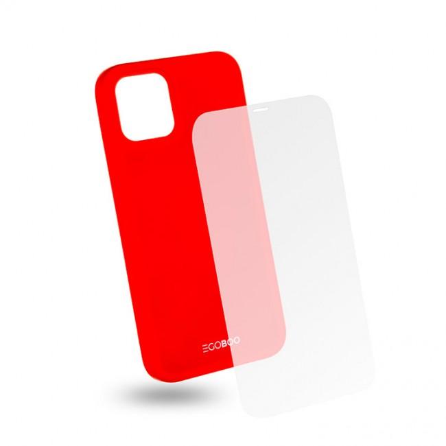 ΘΗΚΗ ΓΙΑ APPLE IPHONE 12/12 PRO EGOBOO BACKCOVER CORAL RED IP12TPUCORALGL