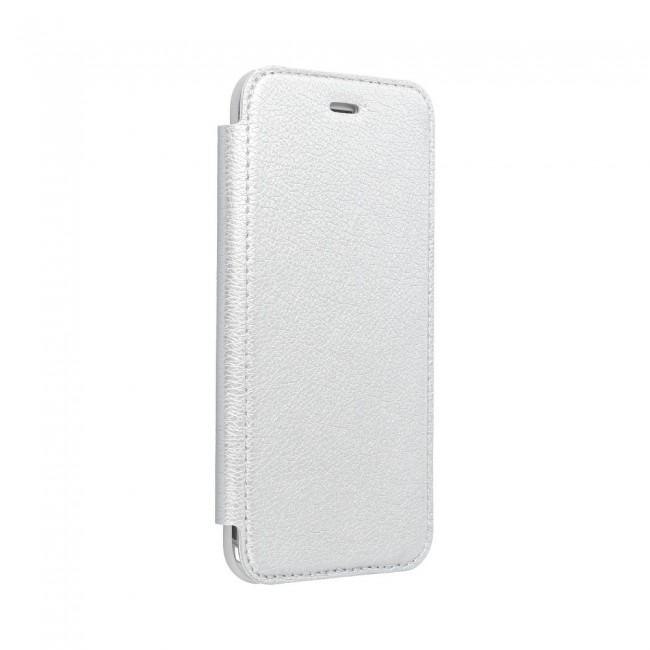Θήκη για Apple Iphone 12/12 Pro Forcell Electro Book silver