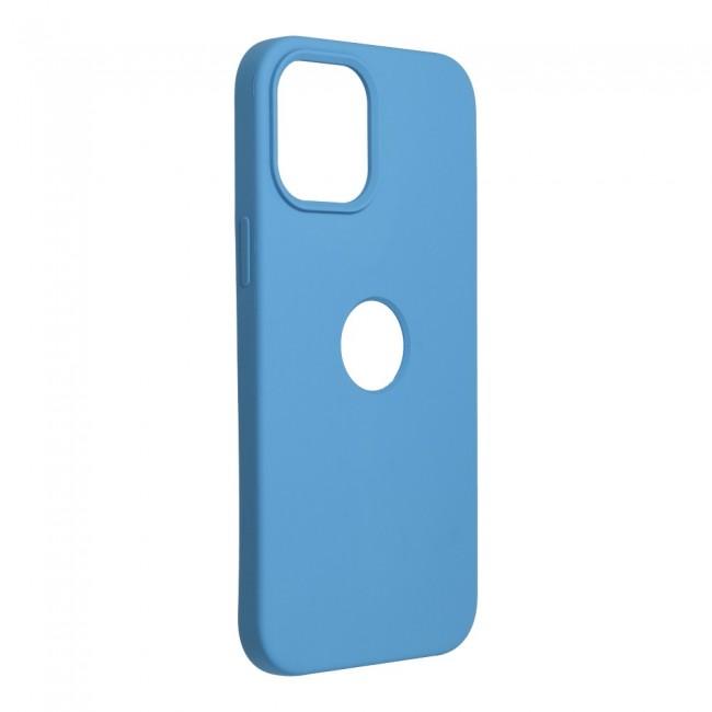 ΘΗΚΗ ΓΙΑ APPLE IPHONE 12 PRO MAX FORCELL SILICONE DARK BLUE (WITH HOLE)