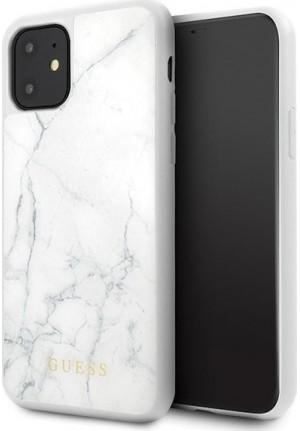 ΘΗΚΗ ΓΙΑ APPLE IPHONE 11 FACEPLATE GUESS WHITE (GUHCN61HYMAWH)