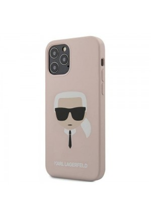 ΘΗΚΗ ΓΙΑ APPLE IPHONE 12/12 PRO KARL LAGERFELD FACEPLATE PINK (KLHCP12MSLKHLP)