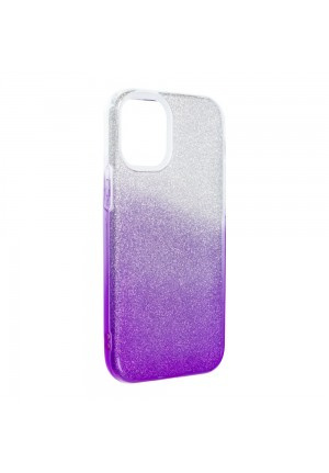 ΘΗΚΗ ΓΙΑ APPLE IPHONE 12 MINI FORCELL SHINING CLEAR/VIOLET