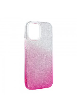 ΘΗΚΗ ΓΙΑ APPLE IPHONE 12 MINI FORCELL SHINING CLEAR/PINK