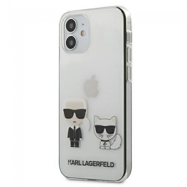 ΘΗΚΗ ΓΙΑ APPLE IPHONE 12 MINI KARL LAGERFELD FACEPLATE CLEAR (KLHCP12SCKTR)
